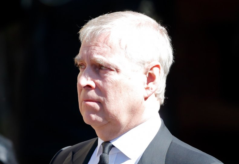 Prince Andrew at Prince Philip's Windsor Funeral