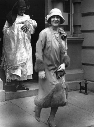 Queen Elizabeth II Leaves Home for Christening