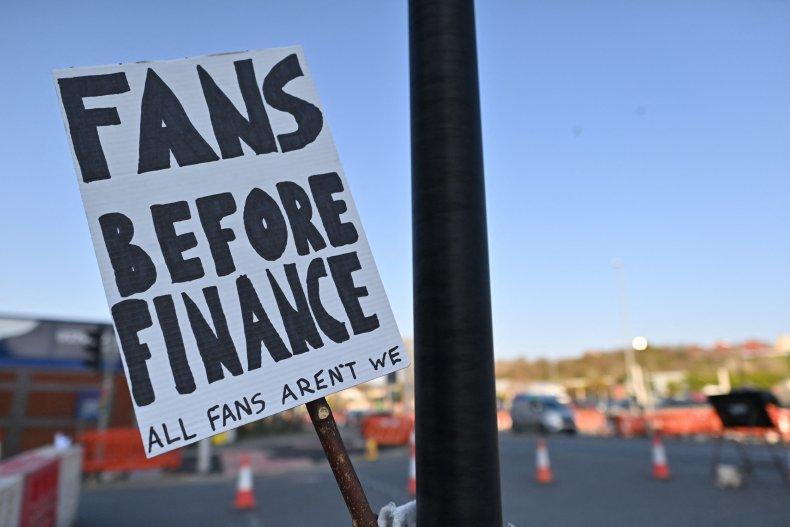super league placard at elland road