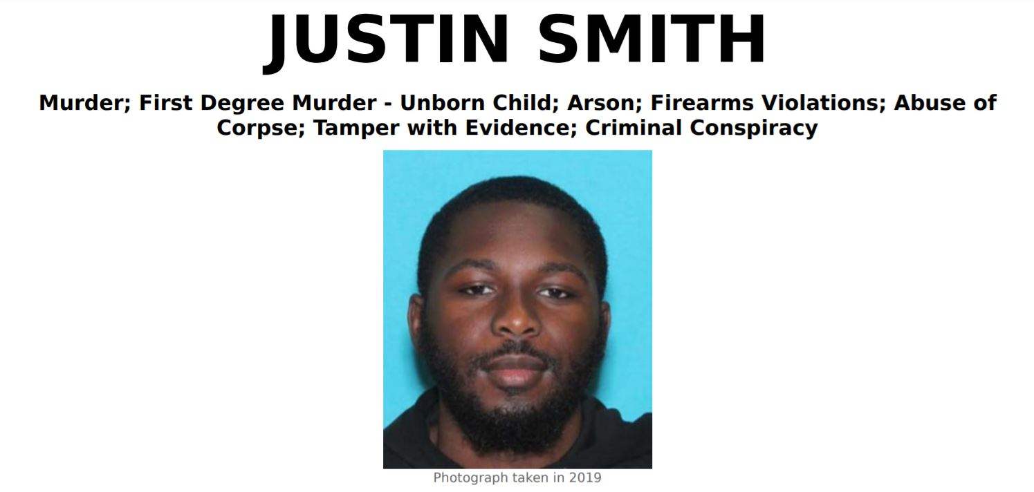 Justin Smith, Diana Brice Murder Suspect, Hunted by FBI