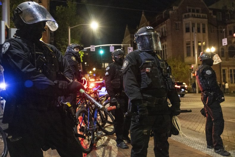 The police officer was punched in Portland