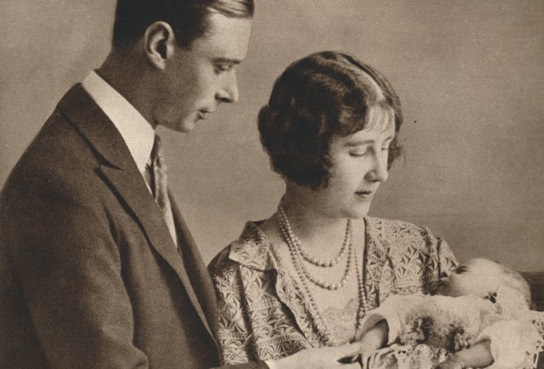 Queen Elizabeth II with her parents