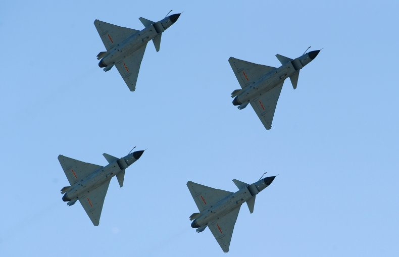Chinese Warplanes Fly Over Air Base