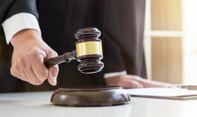 Judge bangs gavel
