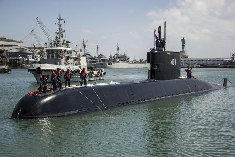 Indonesian navy submarine 2017