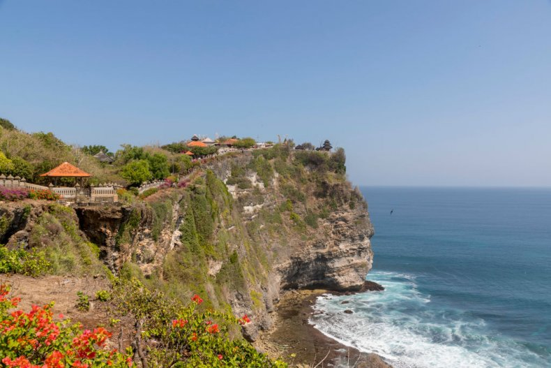 Cliff face in Bali, Indonesia