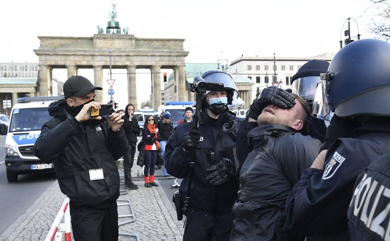 Police React to Protests in Berlin, Germany