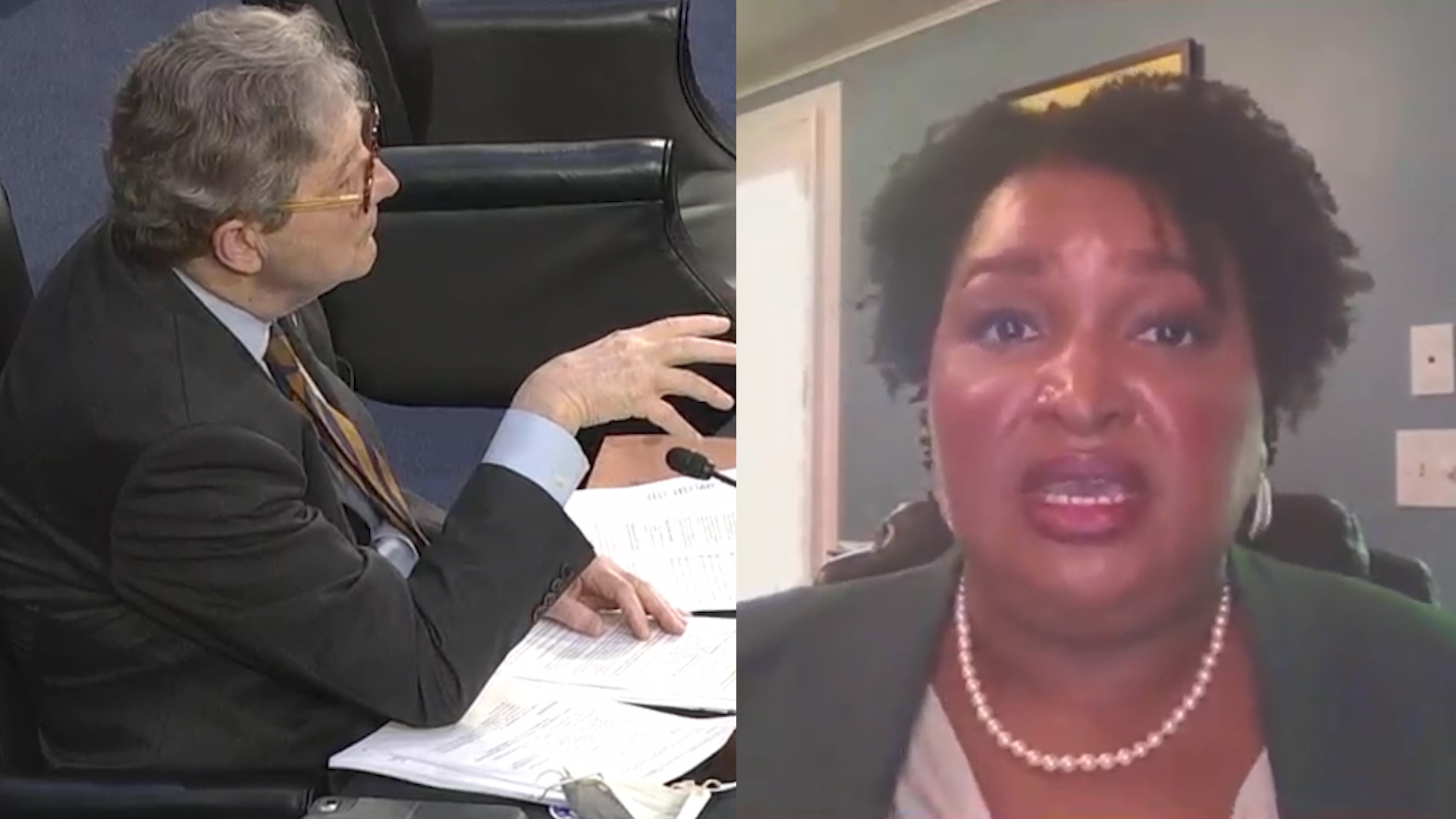 Video of Stacey Abrams John Kennedy Clash Viewed Over 2 Million Times