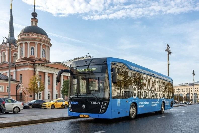 moscow, russia, electric, bus,