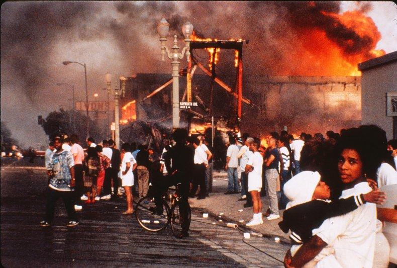 Rodney King Mother Child Fire