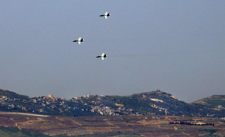 israel, jets, golan, syria