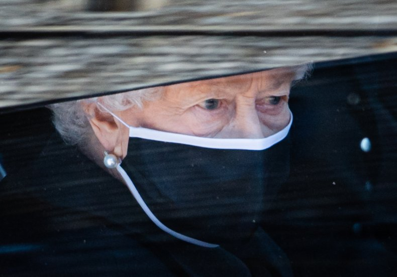 Queen in Black at Prince Philip Funeral