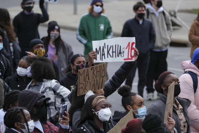 Students protest Ma'Khia Bryant shooting