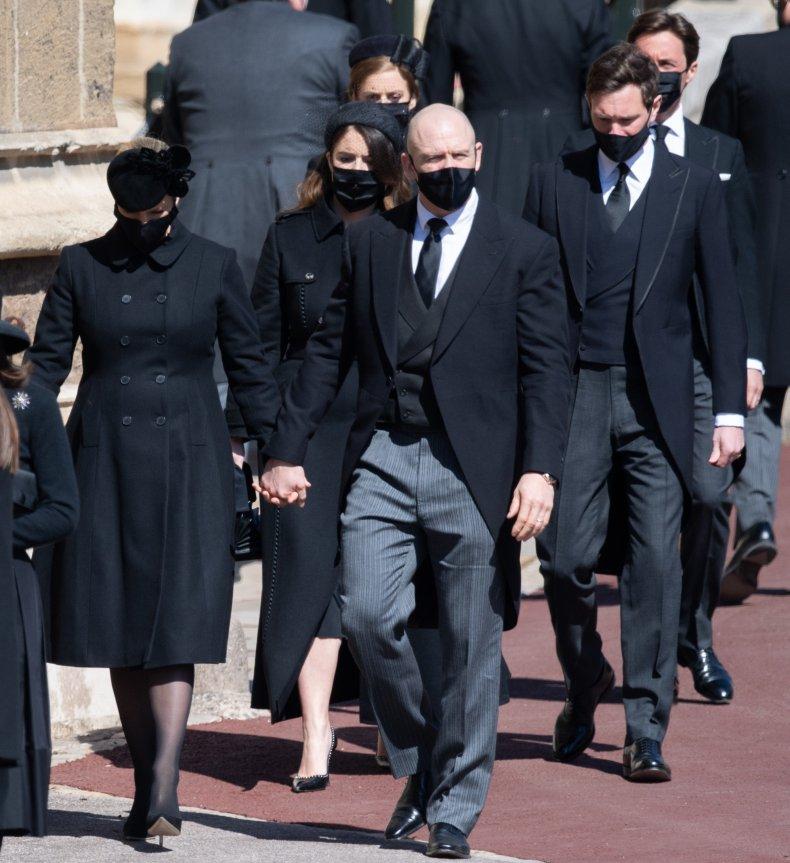 Mike, Zara Tindall at Prince Philip Funeral
