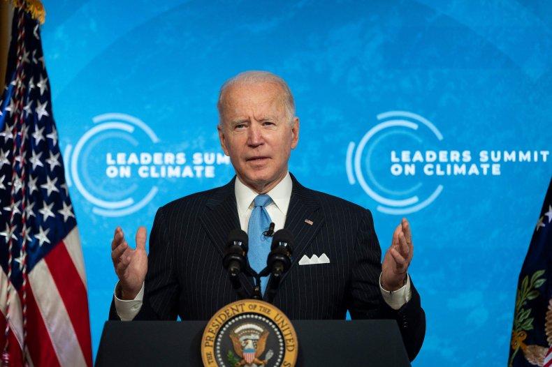 Joe Biden at White House climate summit
