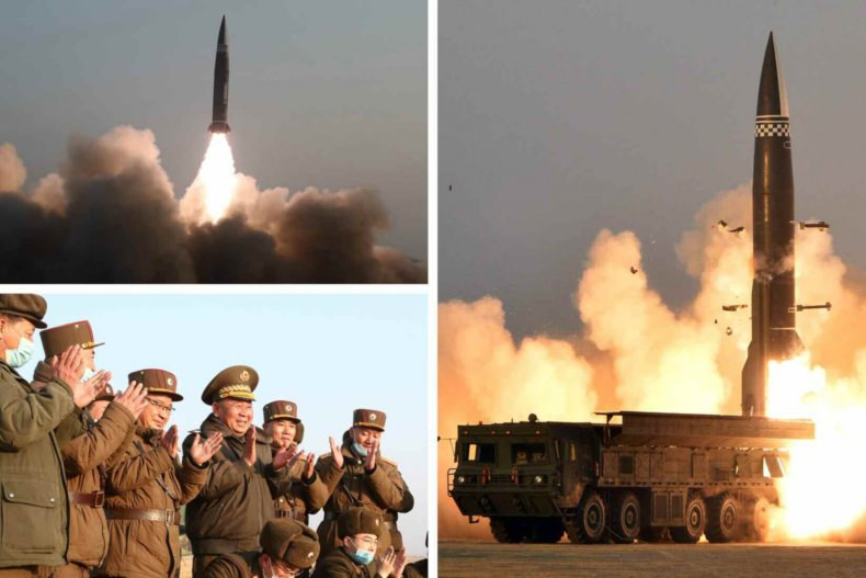 north, korea, missile, launch, pictures, march, 2021