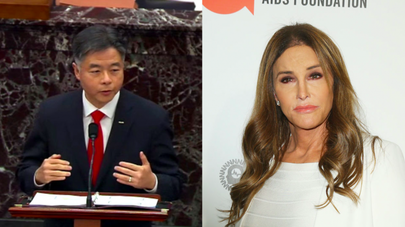 Ted Lieu and Caitlyn Jenner