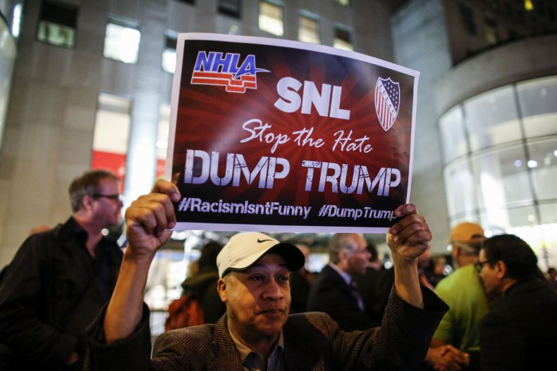 SNL protest at NBC Studios