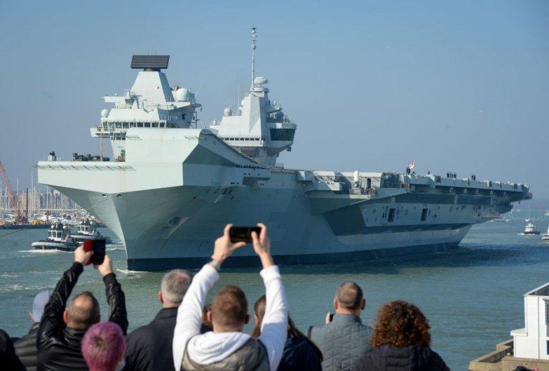 HMS Queen Elizabeth in Portsmouth, England