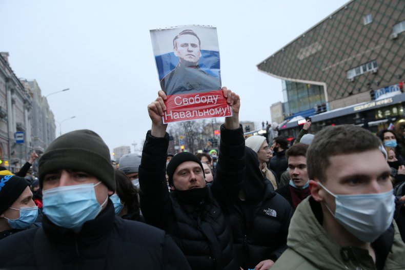 Russia Navalny Protest