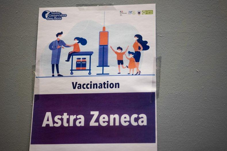 AstraZeneca Vaccine Sign France