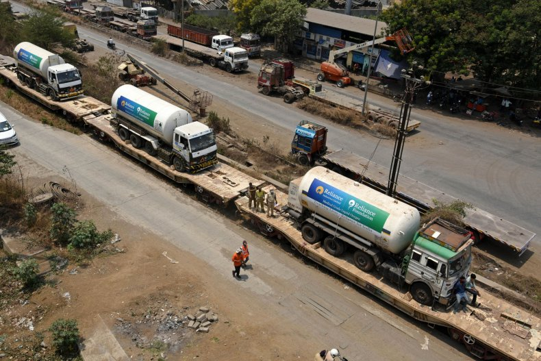Oxygen Tankers in India