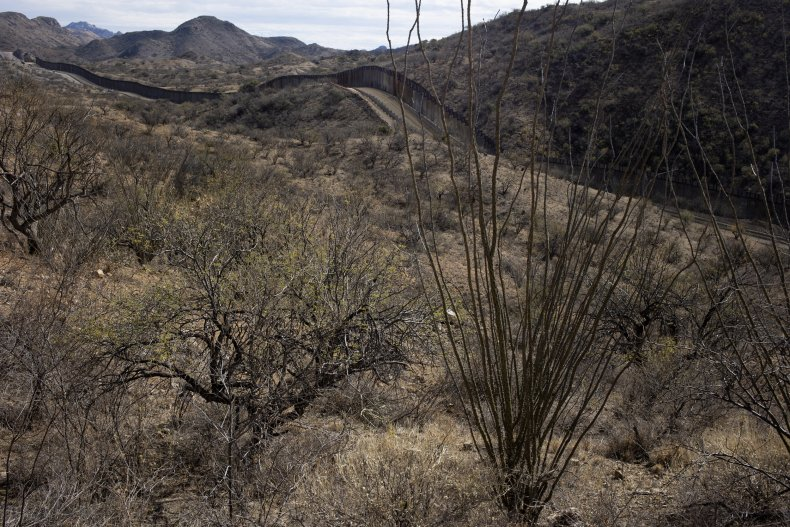 U.S.-Mexico border wall in Arizona