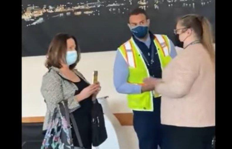 lora reinbold alaska airlines mask