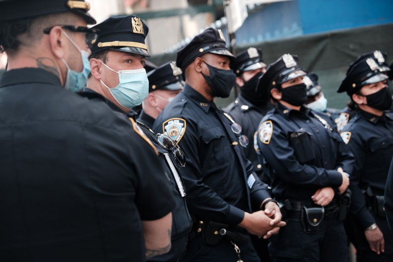 NYPD officers near Times Square