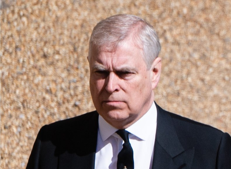 Prince Andrew at Prince Philip Funeral