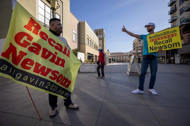 Gavin Newsom Recall Pasadena California 2021