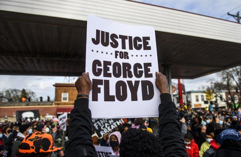 People Celebrate at George Floyd Square