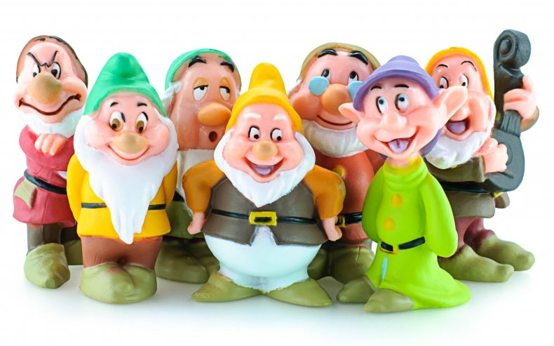 Stock image of Seven Dwarfs toy figures
