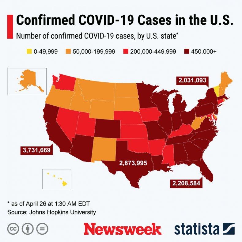 COVID spread across U.S.