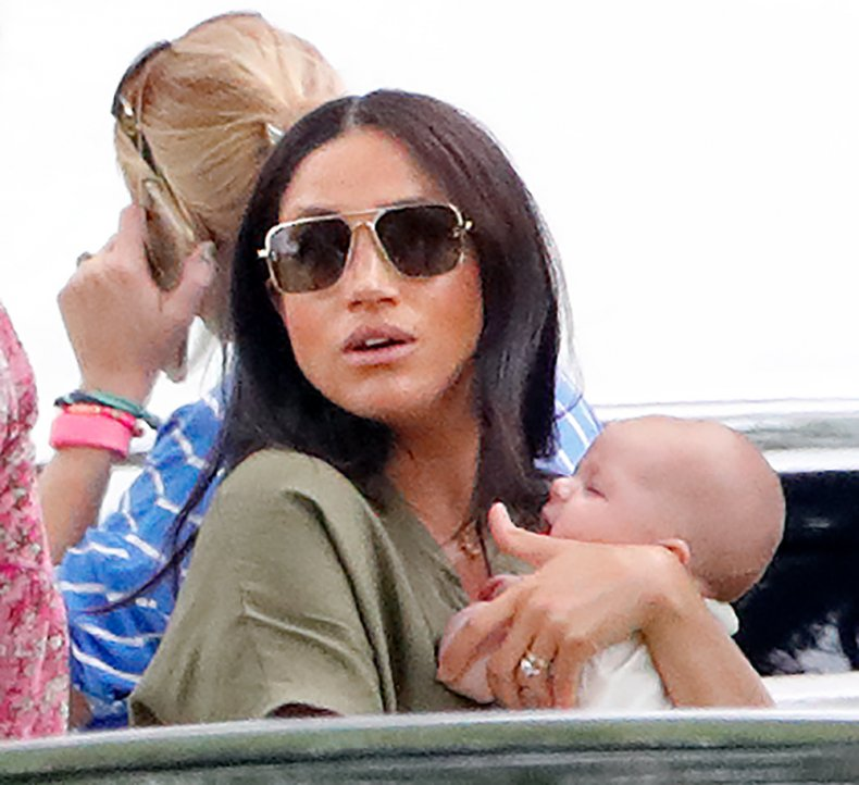 Meghan Markle with Baby Archie at Polo
