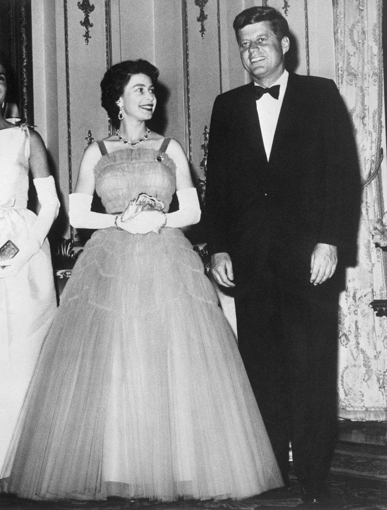 Queen Elizabeth II and John F. Kennedy