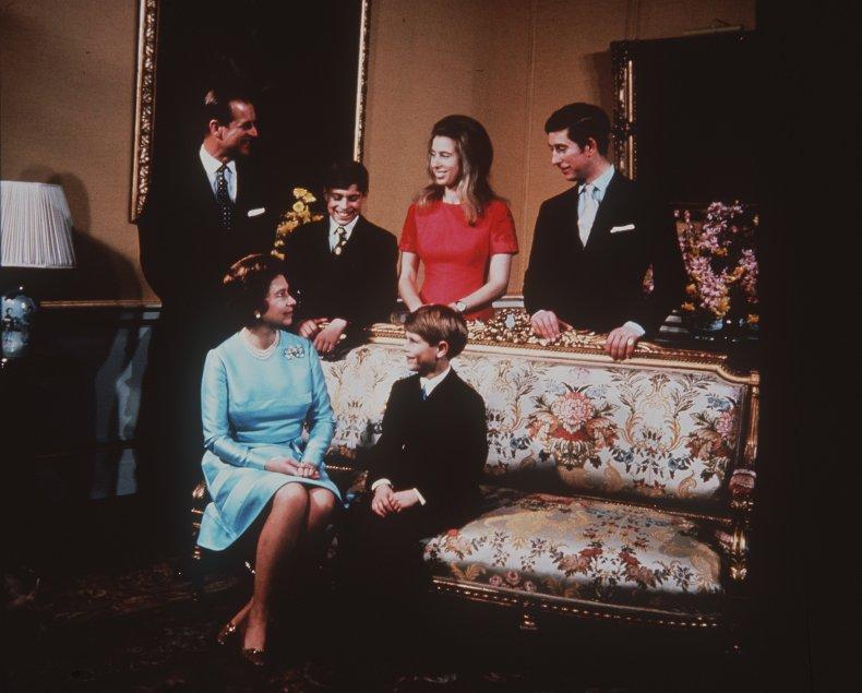Queen Elizabeth II With Royal Family