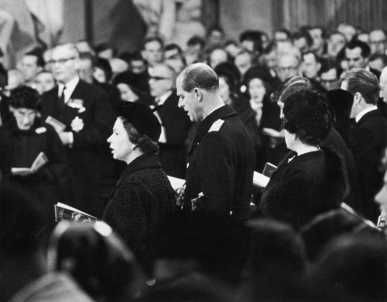 Queen Elizabeth II at Winston Churchill's Funeral