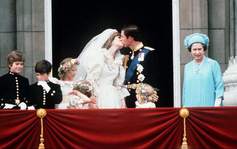 Queen at Prince Charles, Princess Diana's Wedding