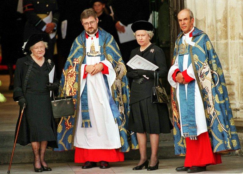 Queen Elizabeth II at Princess Diana's Funeral