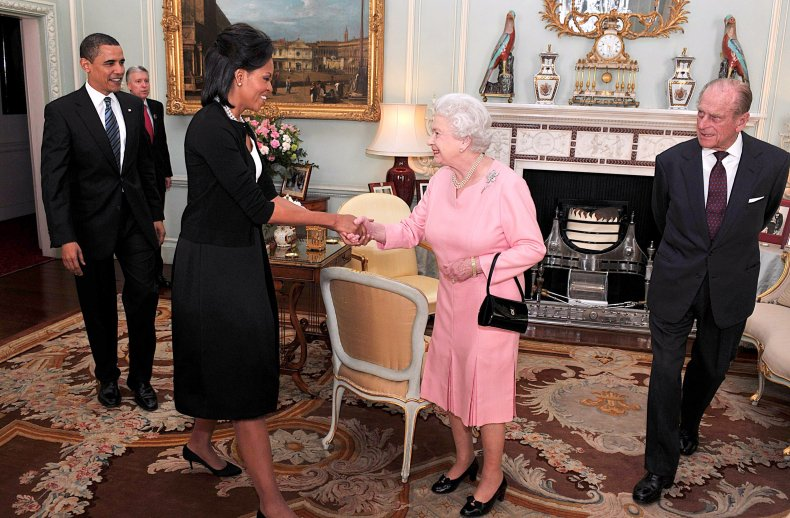 Queen Meets Barack and Michelle Obama