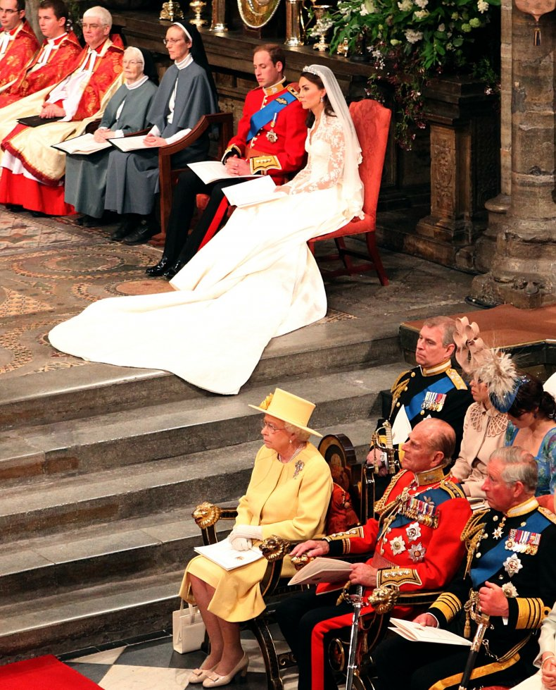 Queen at Prince William, Kate Middleton's Wedding