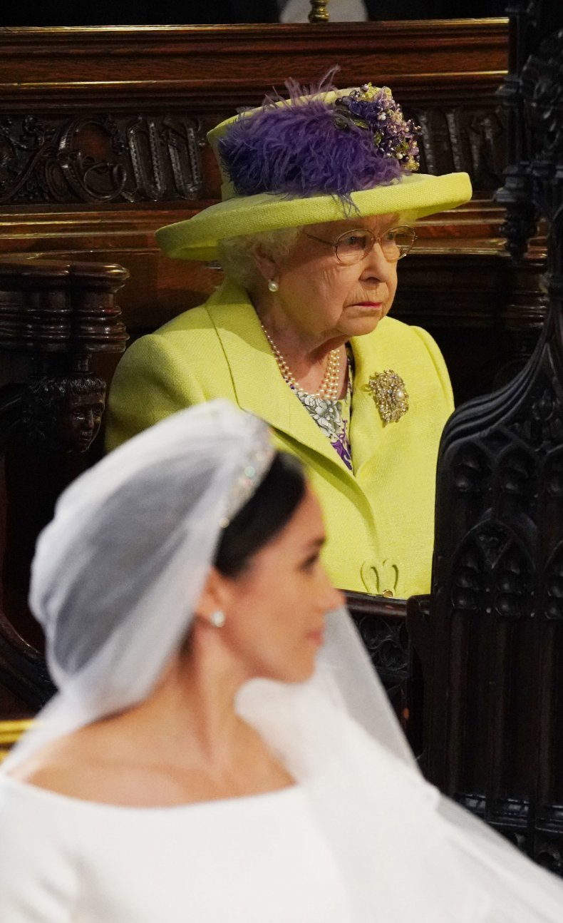 Queen at Meghan Markle, Prince Harry Wedding