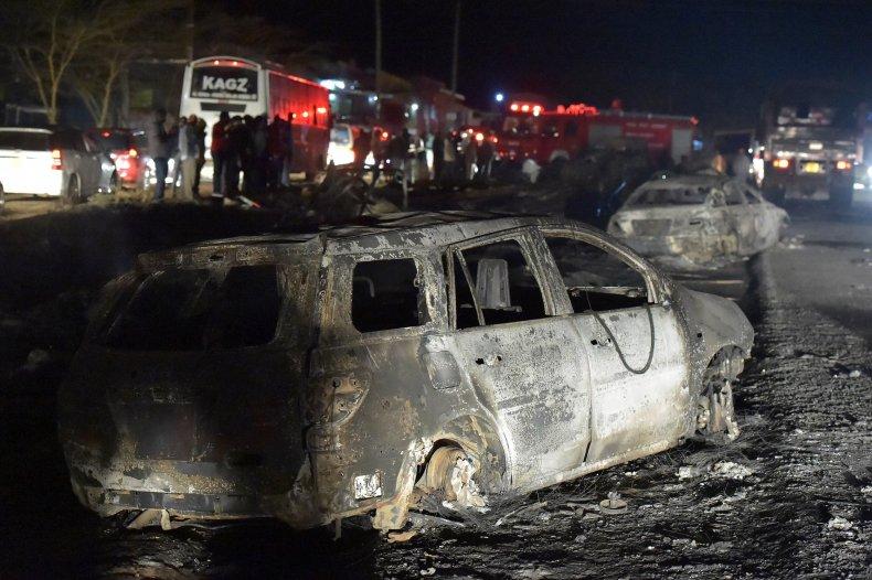 Kenya car wreck