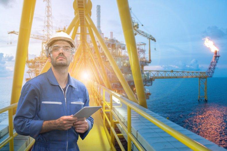 Offshore oil-platform worker