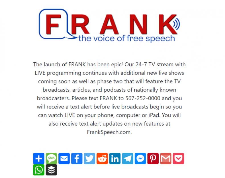 Frank screenshot
