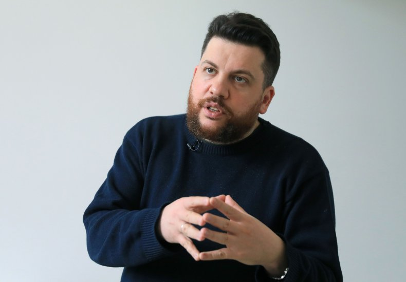 Leonid Volkov Navalny ally during interview Lithuania