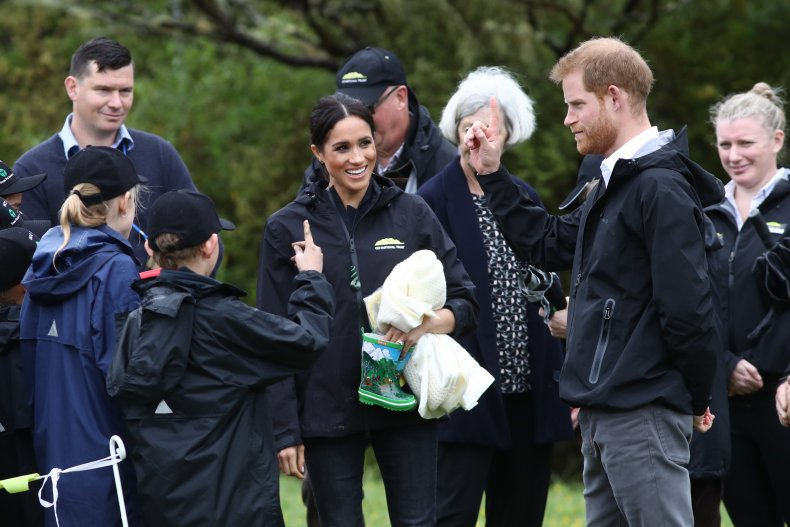Meghan Markle, Prince Harry Gumboot Throwing Contest