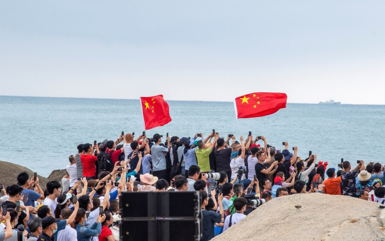 China Space Station Launch, Crowds