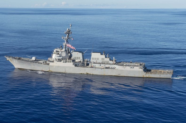U.S. Navy Ship Operates In Pacific